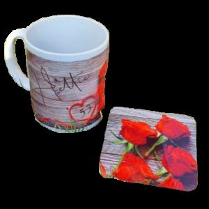 Custom Printed Mug and Coaster Combo